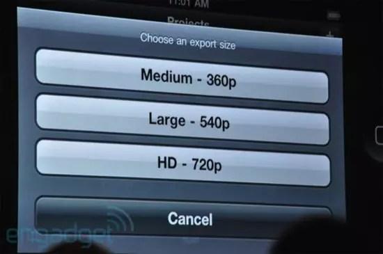 iMovie iPhone 4