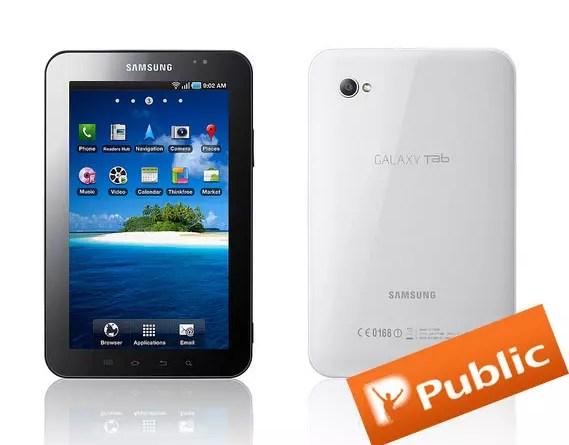 Samsung Galaxy Tab στα Public