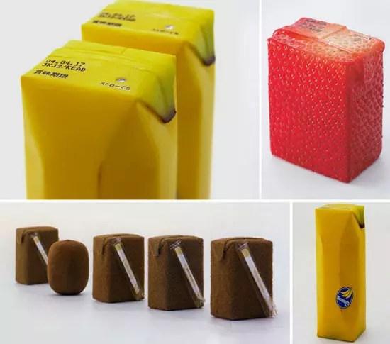 Συσκευασίες χυμών που δεν χρειάζονται επεξηγήσεις καθώς οι συσκευασίες τους προδίδουν τη γεύση τους.