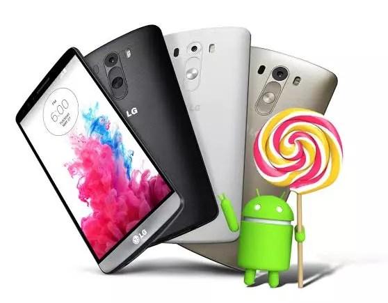 LG G3, Αναβάθμιση σε Android 5.0 Lollipop