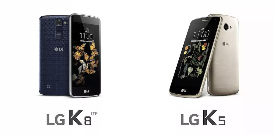 LG K8 and K5