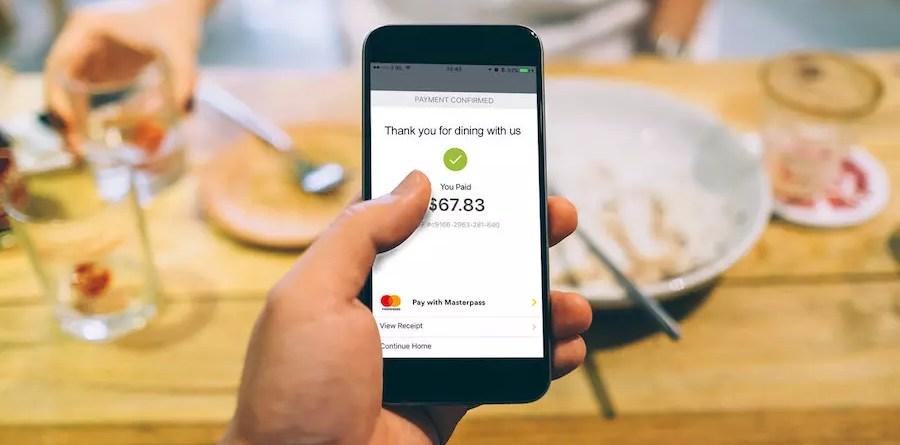 Mastercard Masterpass - pay at table app