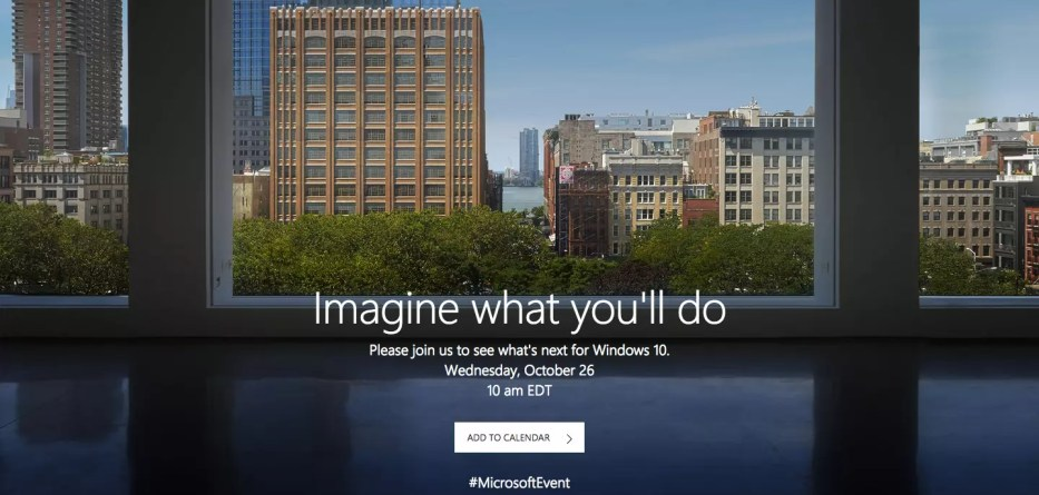 Microsoft October event 2016