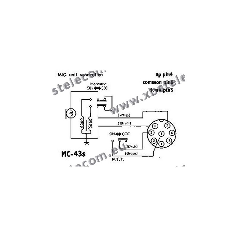 kenwood mc 60 microphone wiring diagram