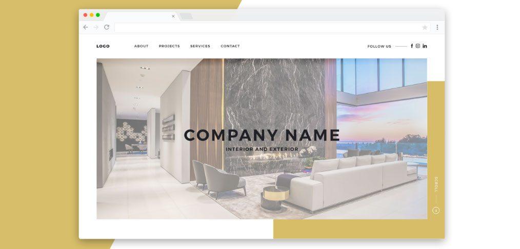 Interior/Exterior Design Website Template - XDGuru