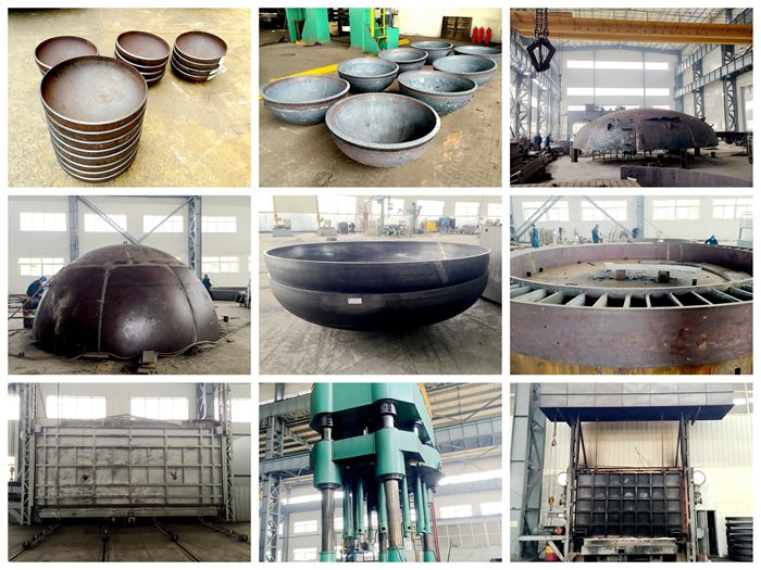 Pressure Vessel and Tank Heads hot formed cold formed & welded xdl machinery