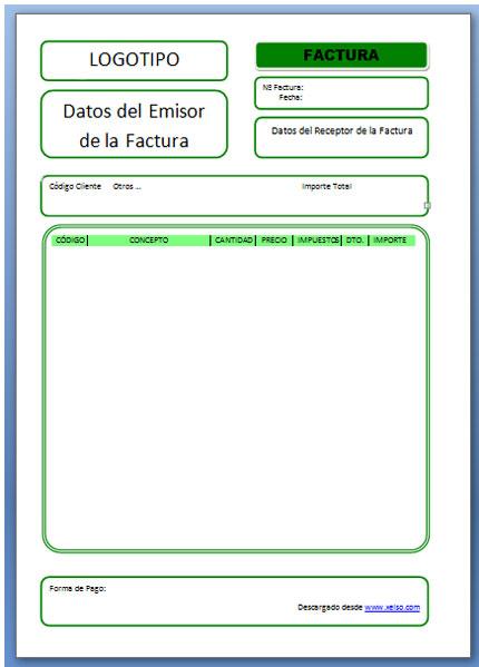 Nueva Plantilla de Word para hacer facturas y proforma - Xelso Blog