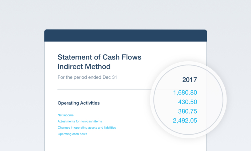 Produce GAAP-compliant Statement of Cash Flows reports in Xero HQ