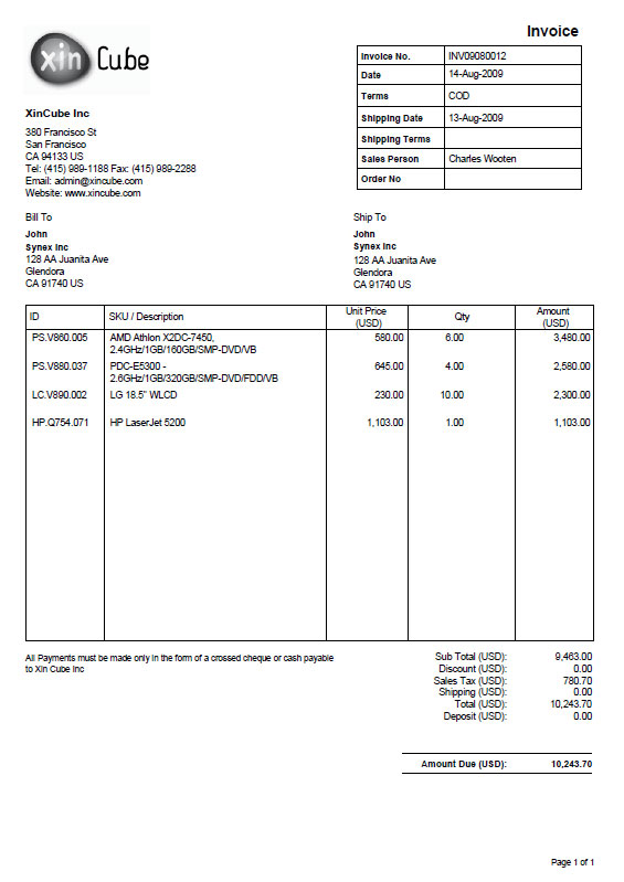 free payment invoice template - invoice models