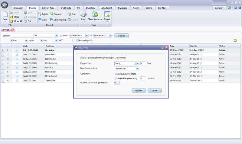 invoicing software with stock management