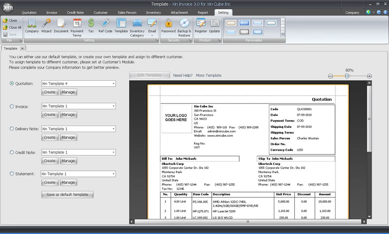 Quotation Software Estimation Software - sample invoice quotation