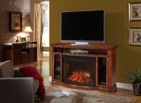 Stewart Fireplace - Antique TV Stand Fireplace by Greenway ...
