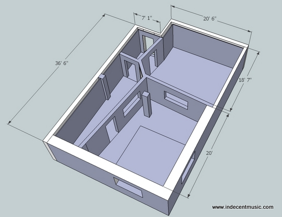 Perfect Home Recording Studio Design Plans Ideas for Home Remodeling - best of building blueprint software free download
