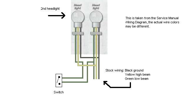 New headlight, dual bulbs, need wiring diagram - XJRider