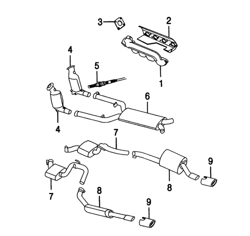 engine exhaust system diagram