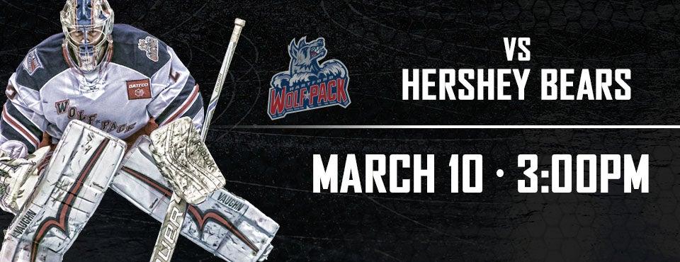 Hartford Wolf Pack vs Hershey Bears XL CENTER