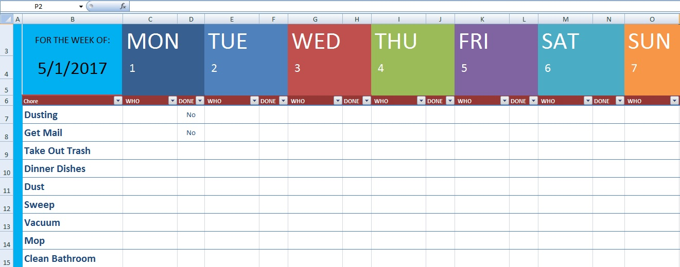 Download Cleaning Schedule Template XLS - Free Excel Spreadsheets