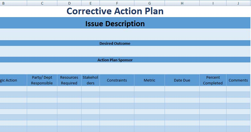 3+ Free Project Action Plan Template XLS - Free Excel Spreadsheets - project action plan template
