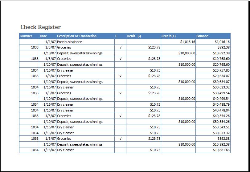 checkregister