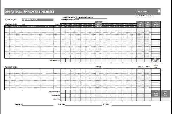 budgets sheets