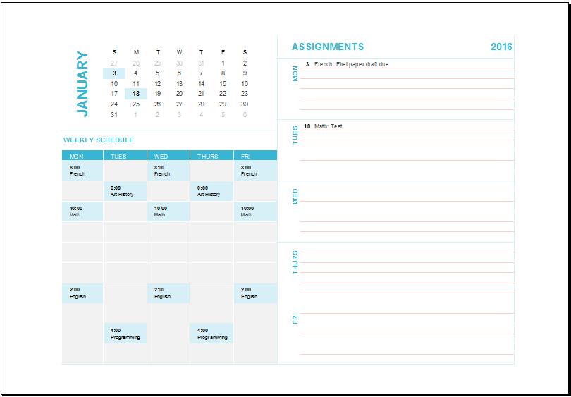 free calendar template excel