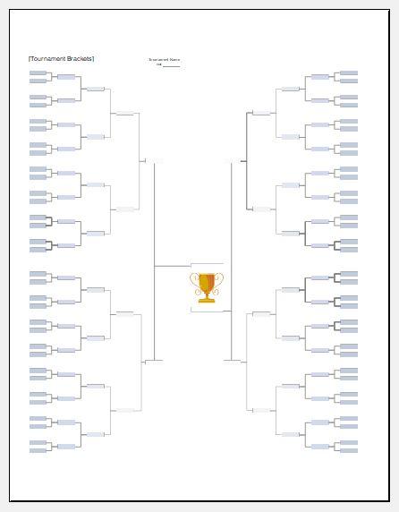 Football Tournament Bracket Templates Excel Templates