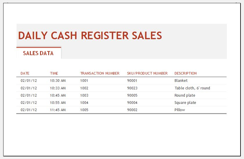 Daily Sales Log Template for MS Excel Excel Templates