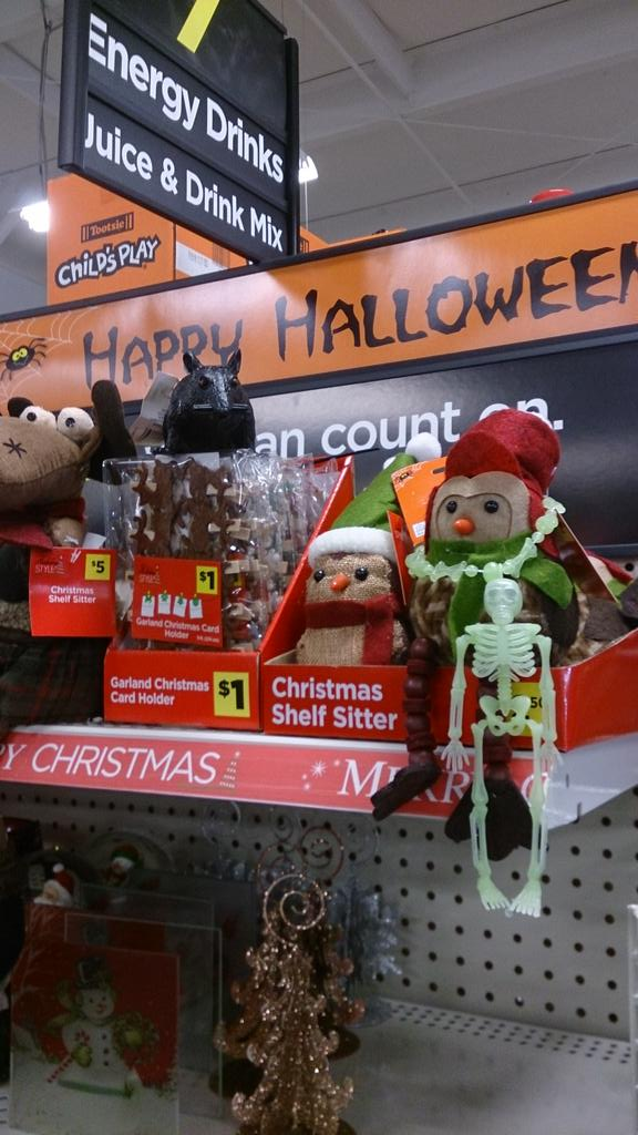 First Christmas Before Halloween Of The Season - Christmas Before - dollar general christmas decorations