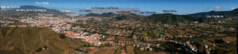 La Cañada de La laguna - Panorámica de la Vega lagunera