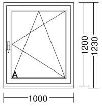1-flgeliges Fenster 1000x1200 IDEAL 8000