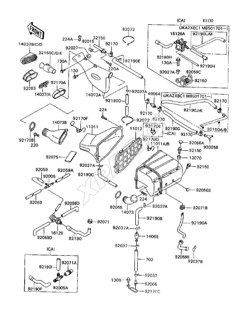 Kawasaki Ninja Parts Catalog Auto Electrical Wiring Diagram 2001 Zx9 Harness 1993