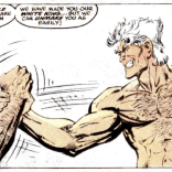 At least we know from a previous panel that they've both already washed their hands. (New Mutants #74)