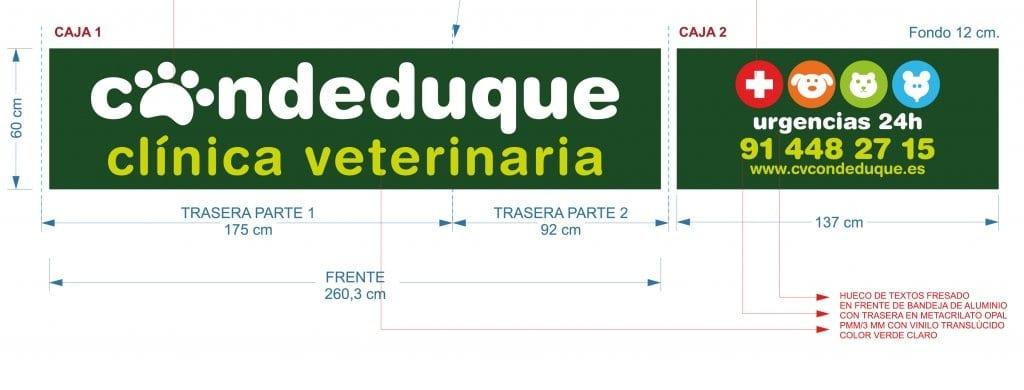 Cl nica veterinaria conde duque rotulaci n de la fachada - Proyecto clinica veterinaria ...