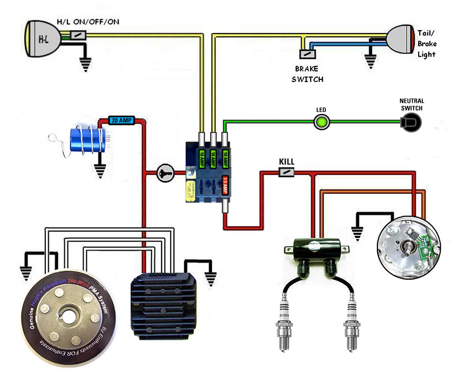 pit bike wiring diagram without battery