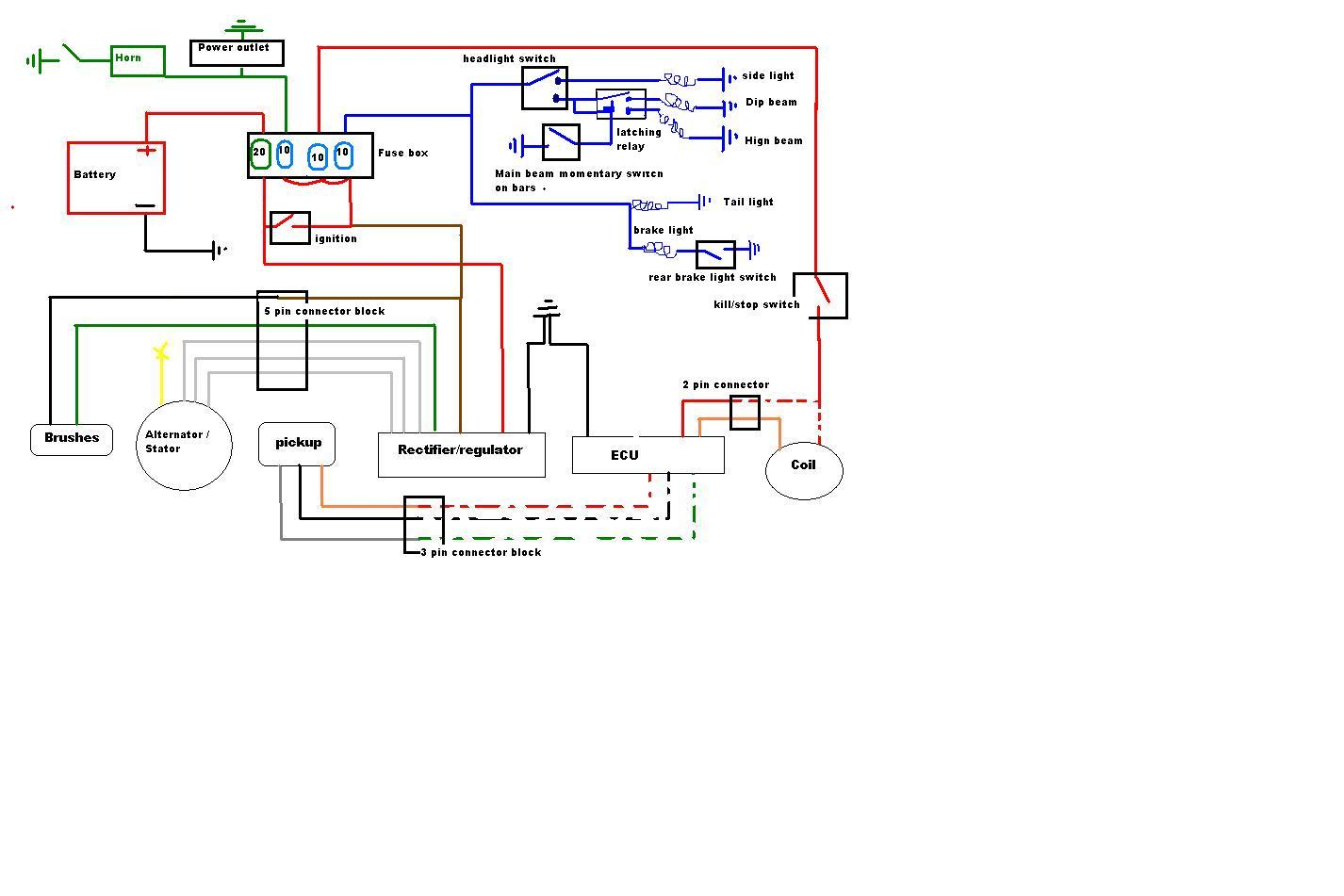 xt350 wiring diagram wiring library