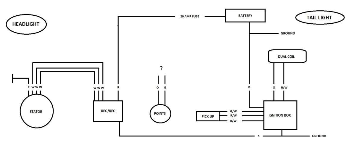 xs650 wiring diagram with points