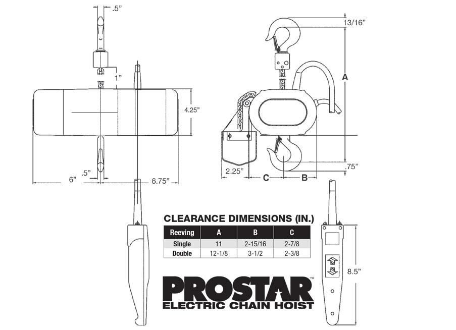 CM PROSTAR Electric Chain Motor XSF Truss