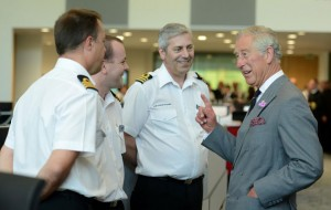 HRH the Prince of Wales at the National Maritime Operations Centre
