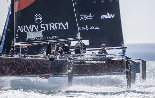 ARMIN STROM Sailing Team and Team ENGIE match race. Photo: Sander van der Borch / Bullitt GC32 Racing Tour