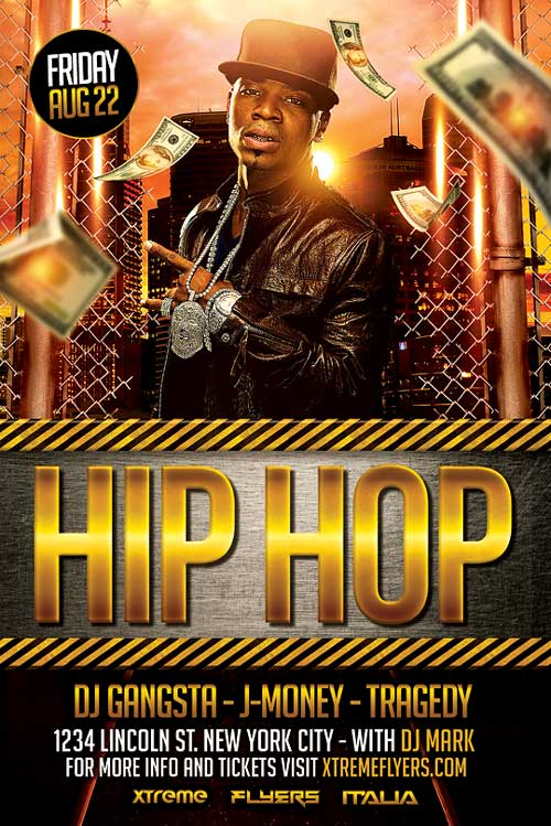 Hip Hop Flyer Template PSD Download - Best Flyer Templates