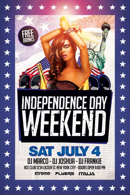 Fourth of July Flyer Template PSD Download - XtremeFlyers