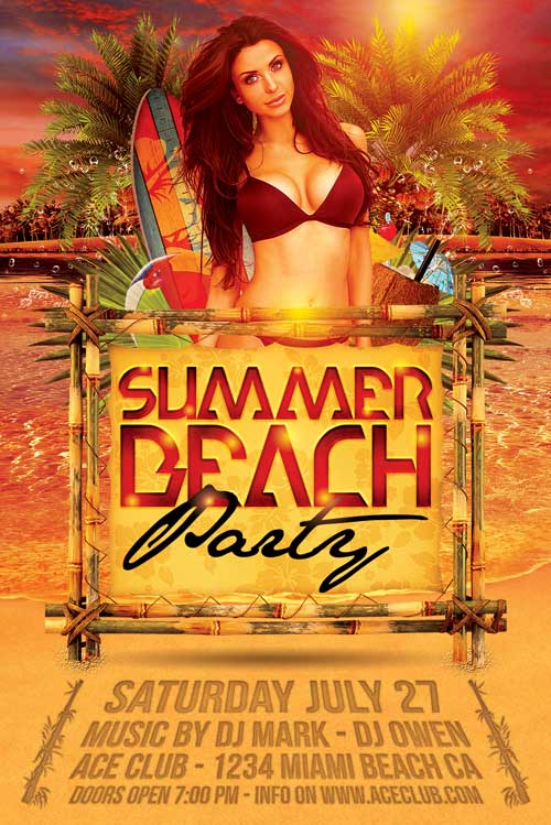 Summer Beach Party Flyer - XtremeFlyers