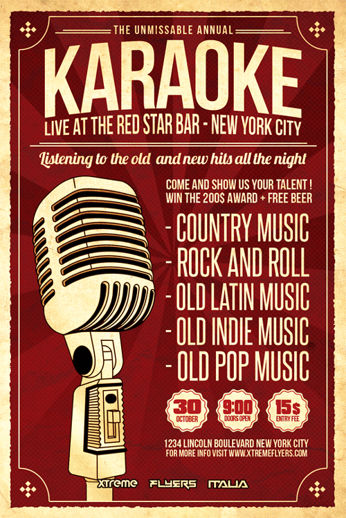 Karaoke Flyer Template PSD Download - XtremeFlyers