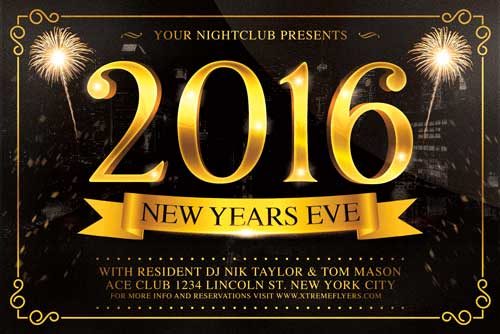 New Years Eve Flyer Template - XtremeFlyers - new year poster template