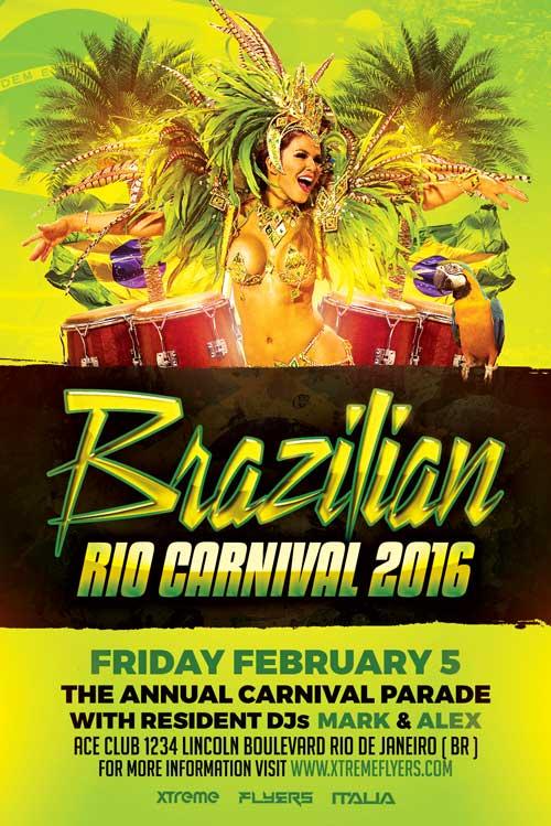 Brazilian Carnival Flyer Template PSD - XtremeFlyers
