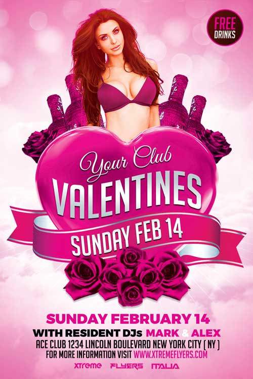 Valentines Day Flyer Template PSD Download - Xtremeflyers