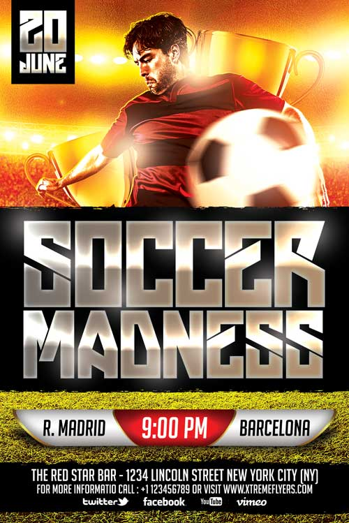 FREE Soccer Flyer Template - XtremeFlyers