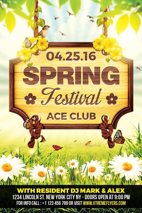 Spring Festival Flyer Template - XtremeFlyers