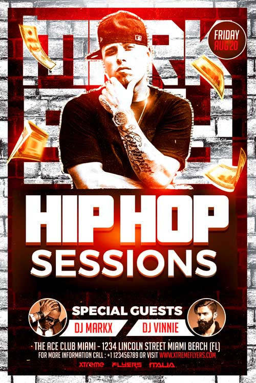 Hip Hop Artist Flyer Template - XtremeFlyers