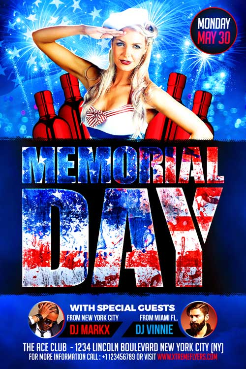 Memorial Day Flyer Template - XtremeFlyers